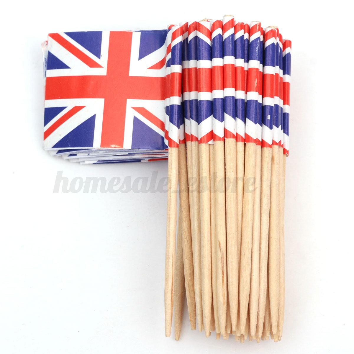 Cake Decoration Sticks : 50pcs Mini Flag Cocktail Cupcake Food Fruit Picks Sticks ...