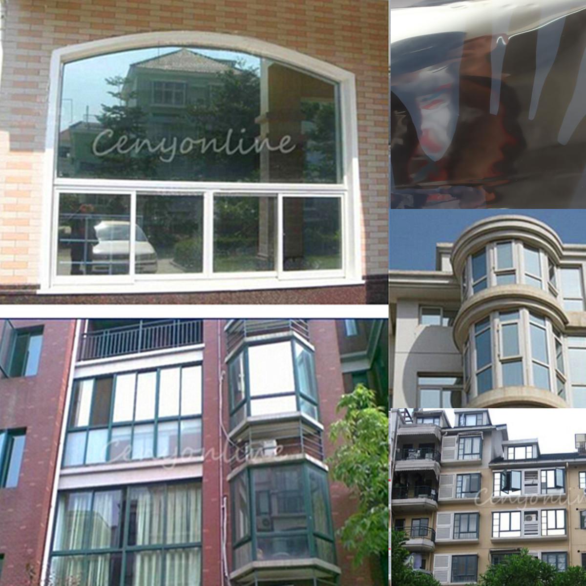 3 meter mirror silver solar reflective window film one way for 2 way privacy window film