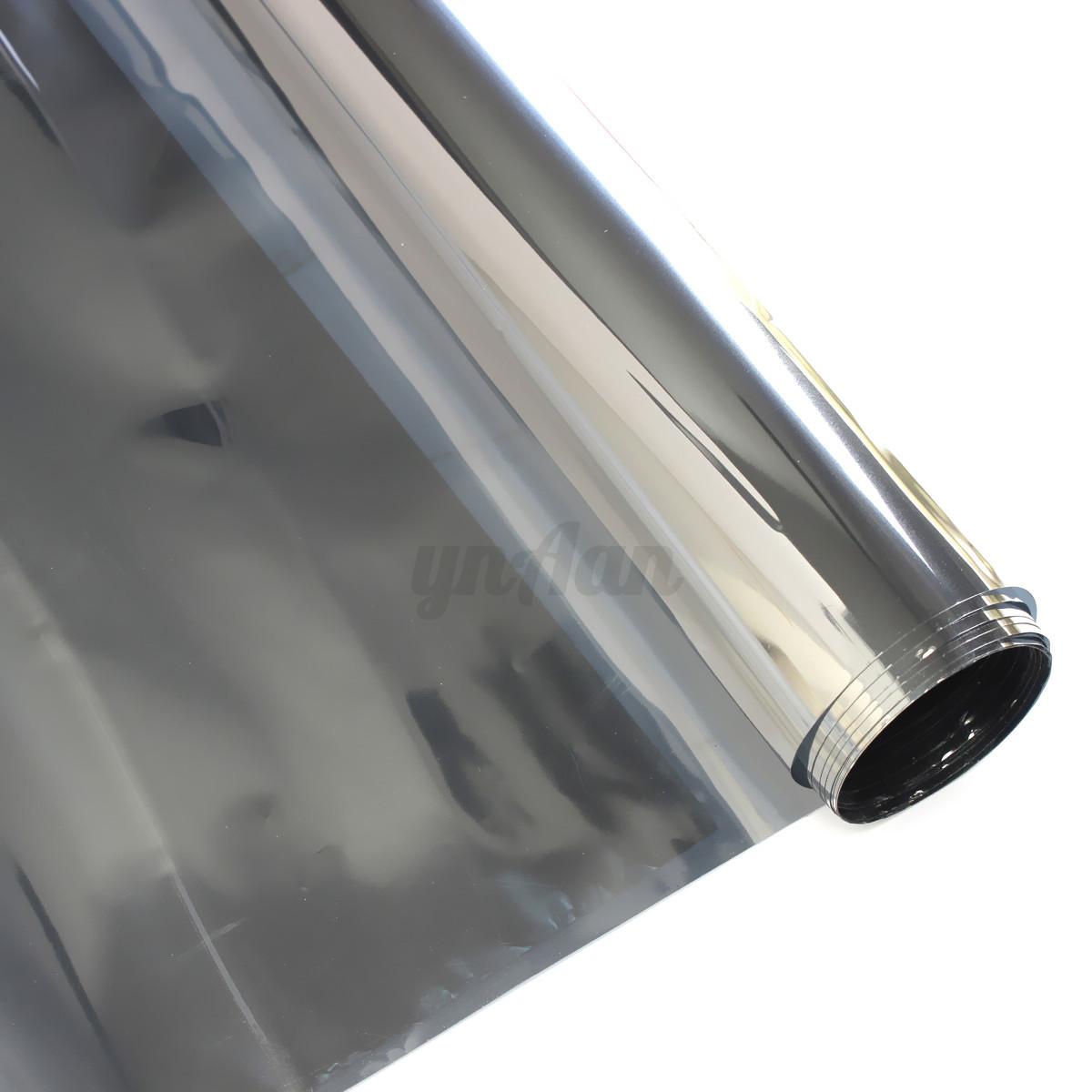20 mirror silver solar reflective window film one way for 1 way window tint