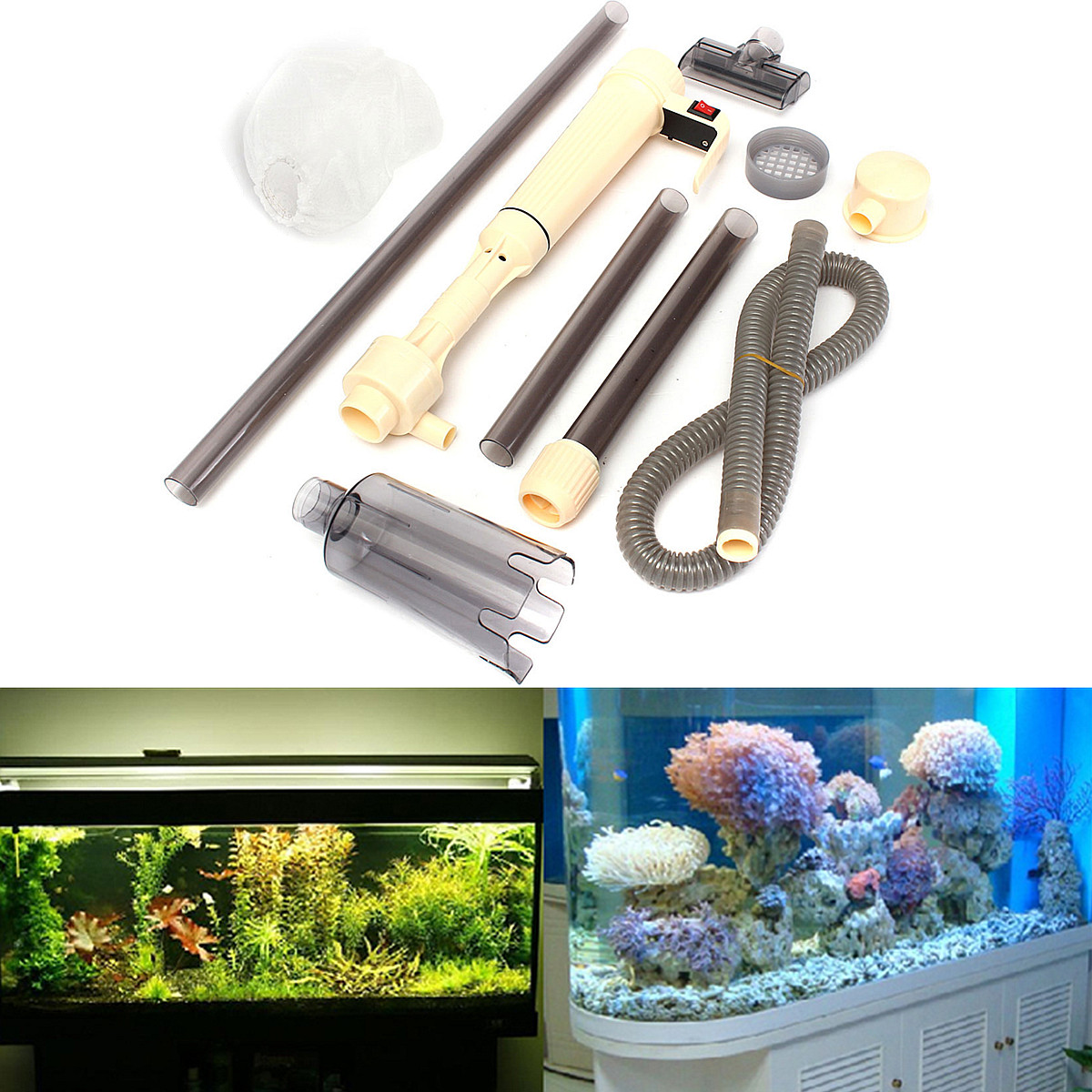 how to start a siphon fish tank