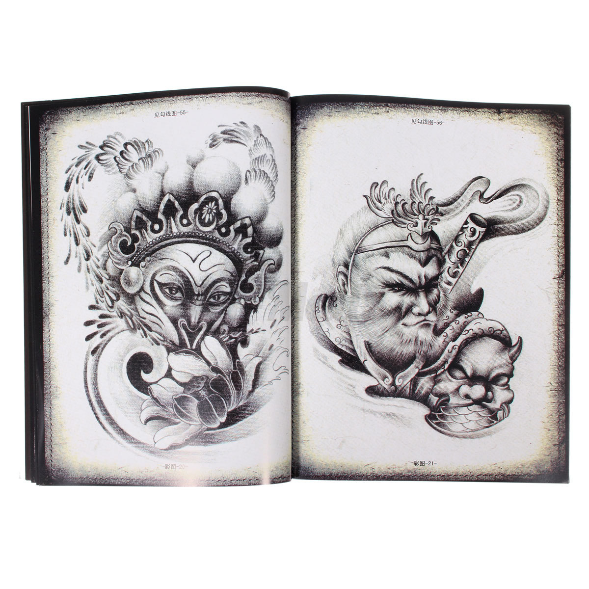 70 pages traditional chinese tattoo reference book for Tattoo reference books