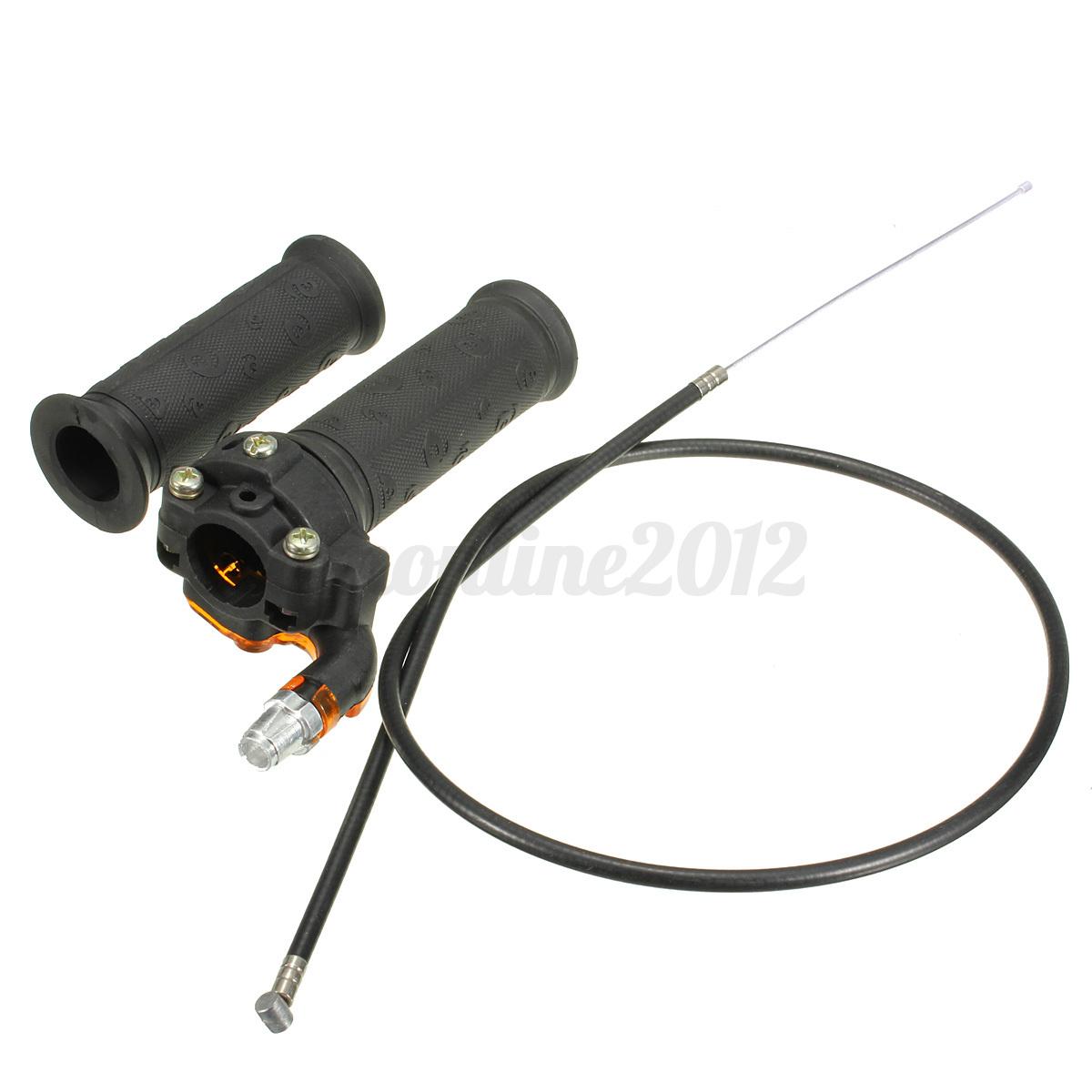 Twist Throttle Accelerator Grip/&Cable ATV Quad Dirt Pit Bike 50//90//110CC Black