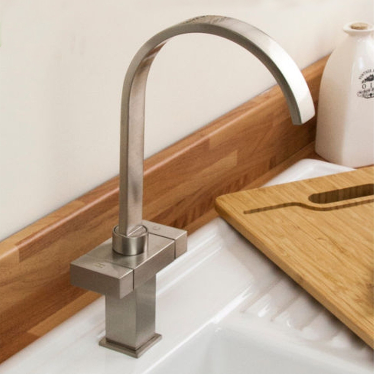 Multi Style Chrome Modern Pull Out Kitchen Taps Mixer Swivel Brushed