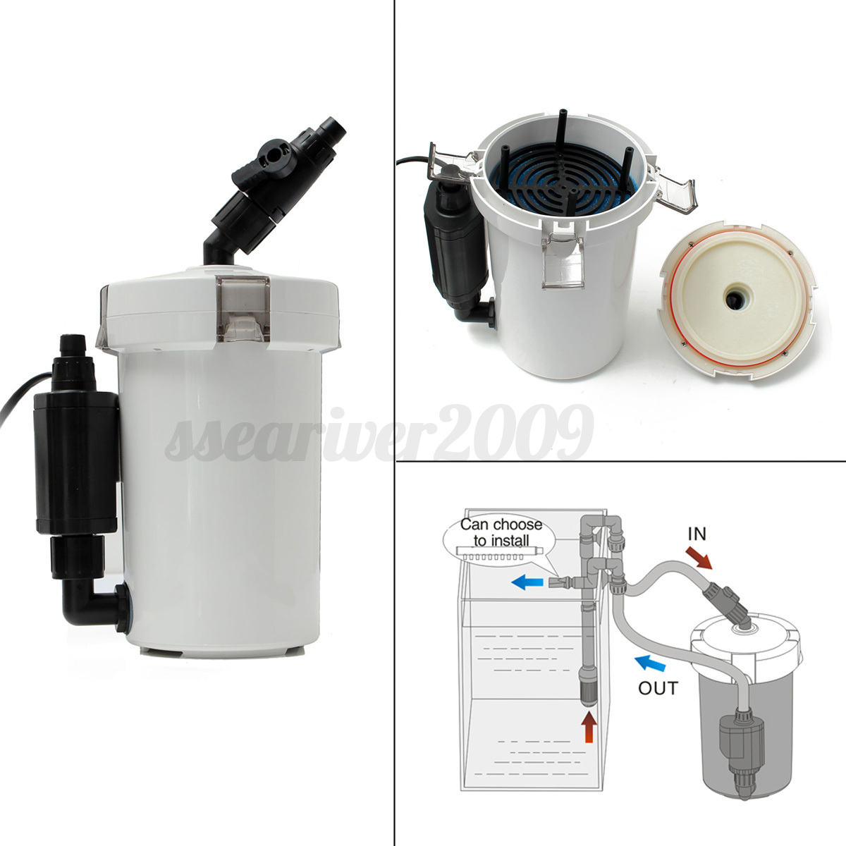 Small aquarium fish tank external canister filter fresh for Small fish filter