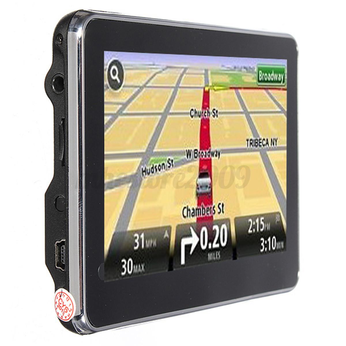 5 auto car truck navigation gps 4gb fm touch screen sat. Black Bedroom Furniture Sets. Home Design Ideas