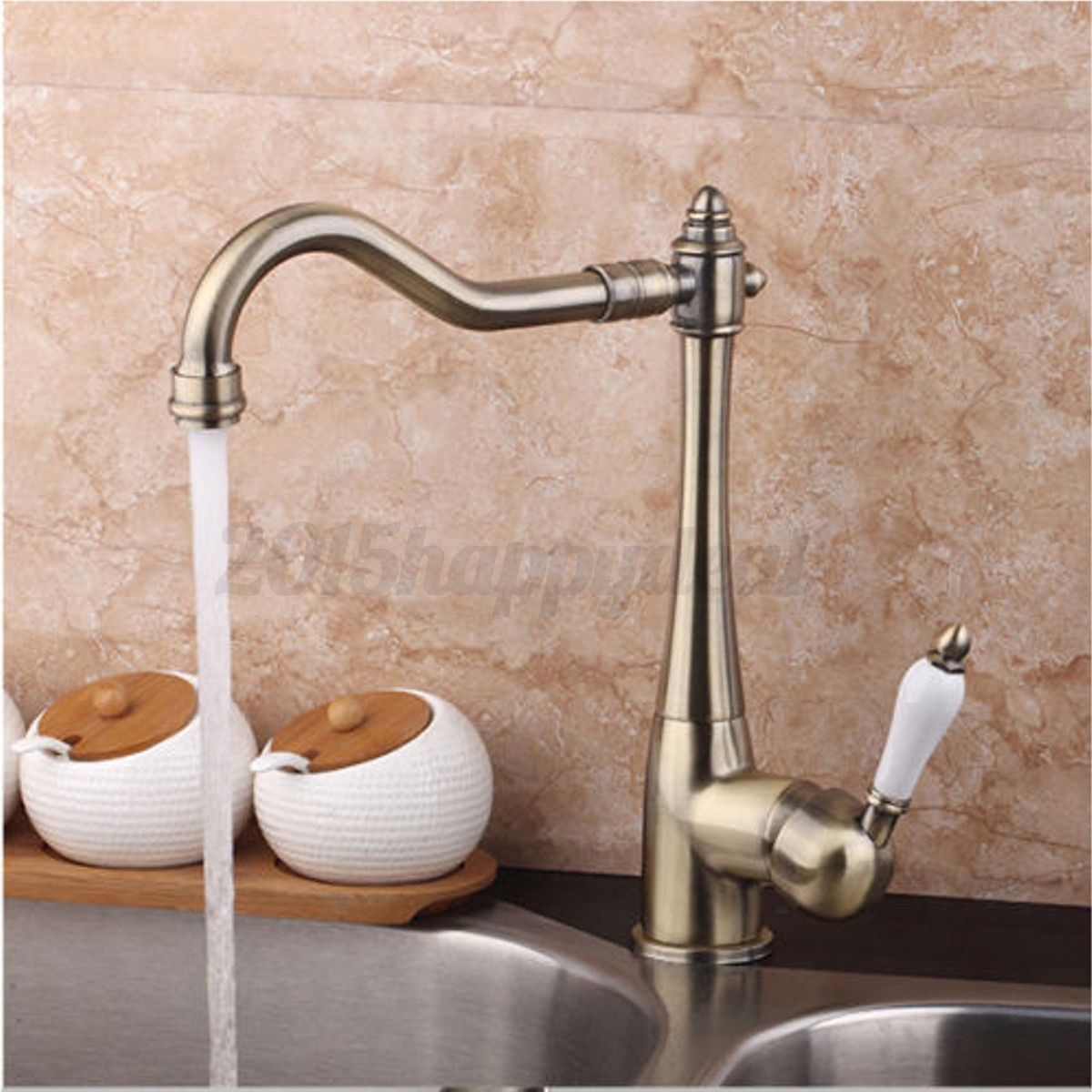 Single double handle kitchen basin sink mixer taps - Robinetterie salle de bain retro ...
