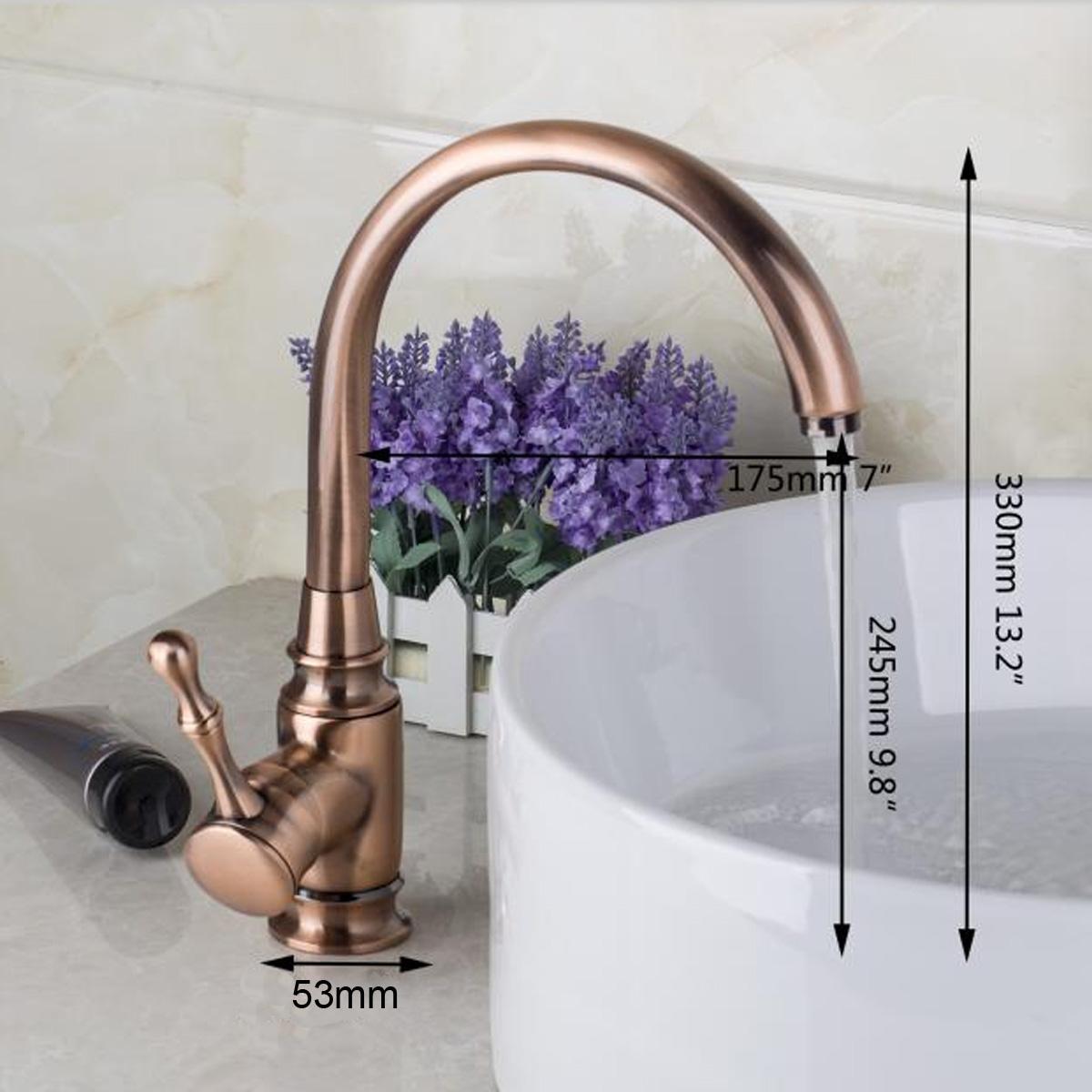 6 Style Antique Brass Single Handle Kitchen Faucet Bathroom Basin ...
