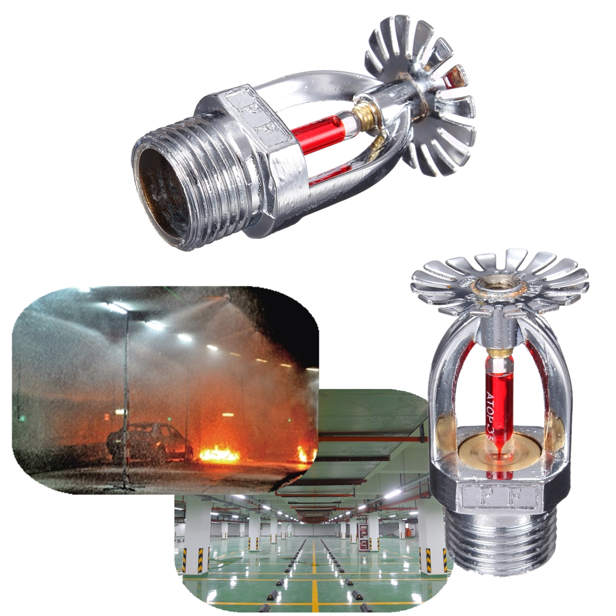 Details about 68℃ ZSTX-15 Pendent Fire Sprinkler Head For Fire  Extinguishing System Protection