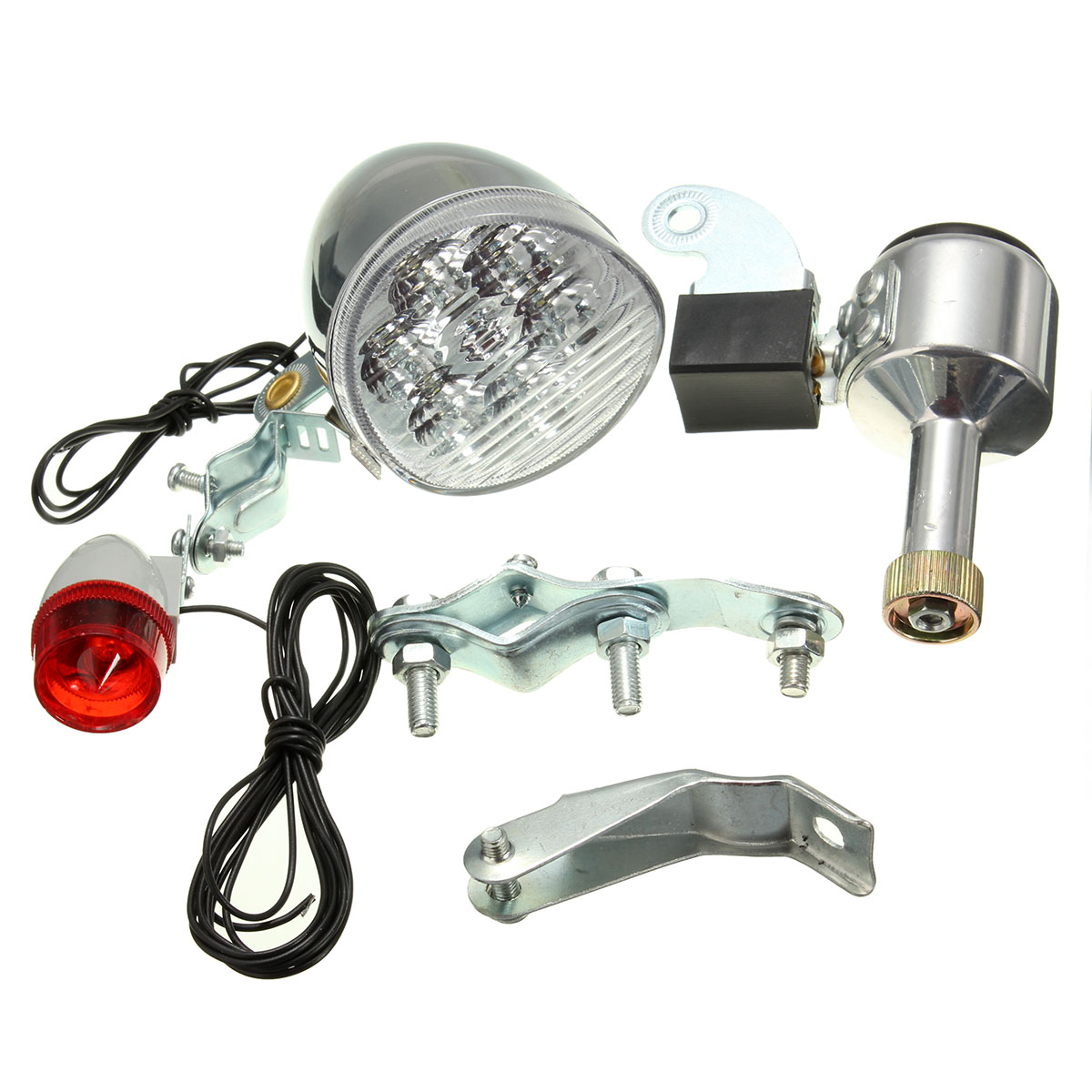 Motorized Friction Generator Dynamo Led Head Light Tail Lamp 3w 6v