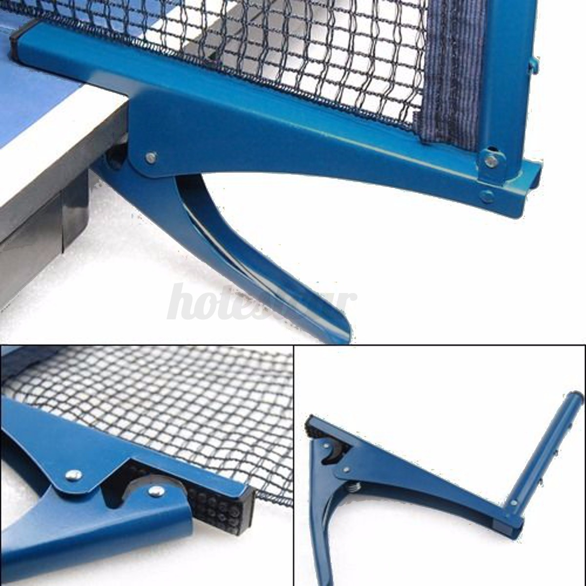 Table-Tennis-Ping-Pong-Net-Indoor-Sports-Game-Post-Clamp-Stand-Set thumbnail 4