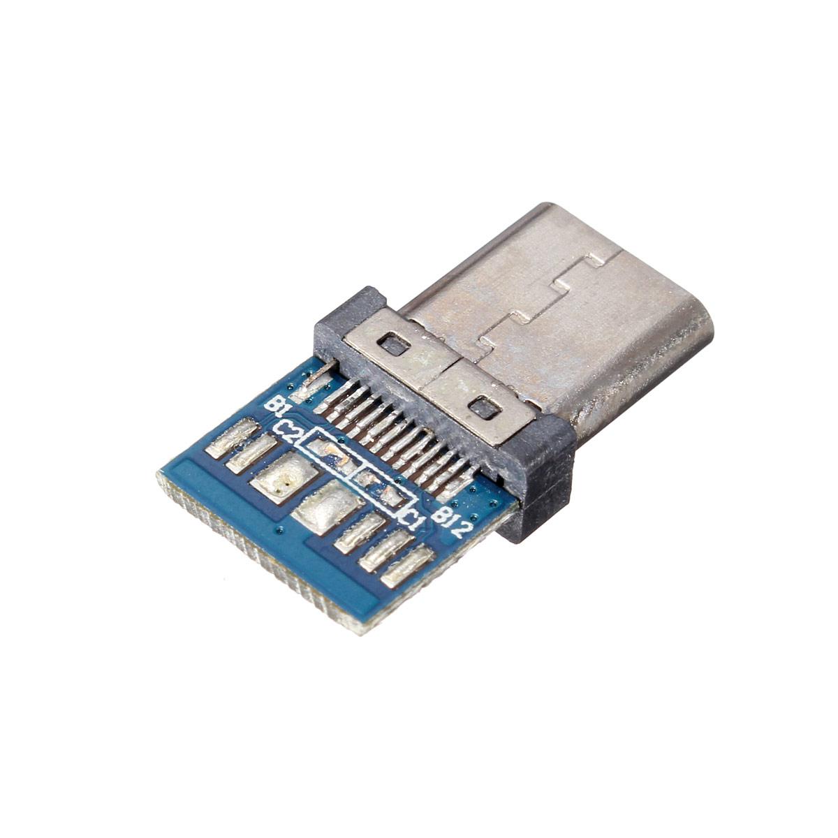 Diy 24 Pin Usb 31 Type C Male Female Plug Socket Connector Smt Circuit Board Detail Image