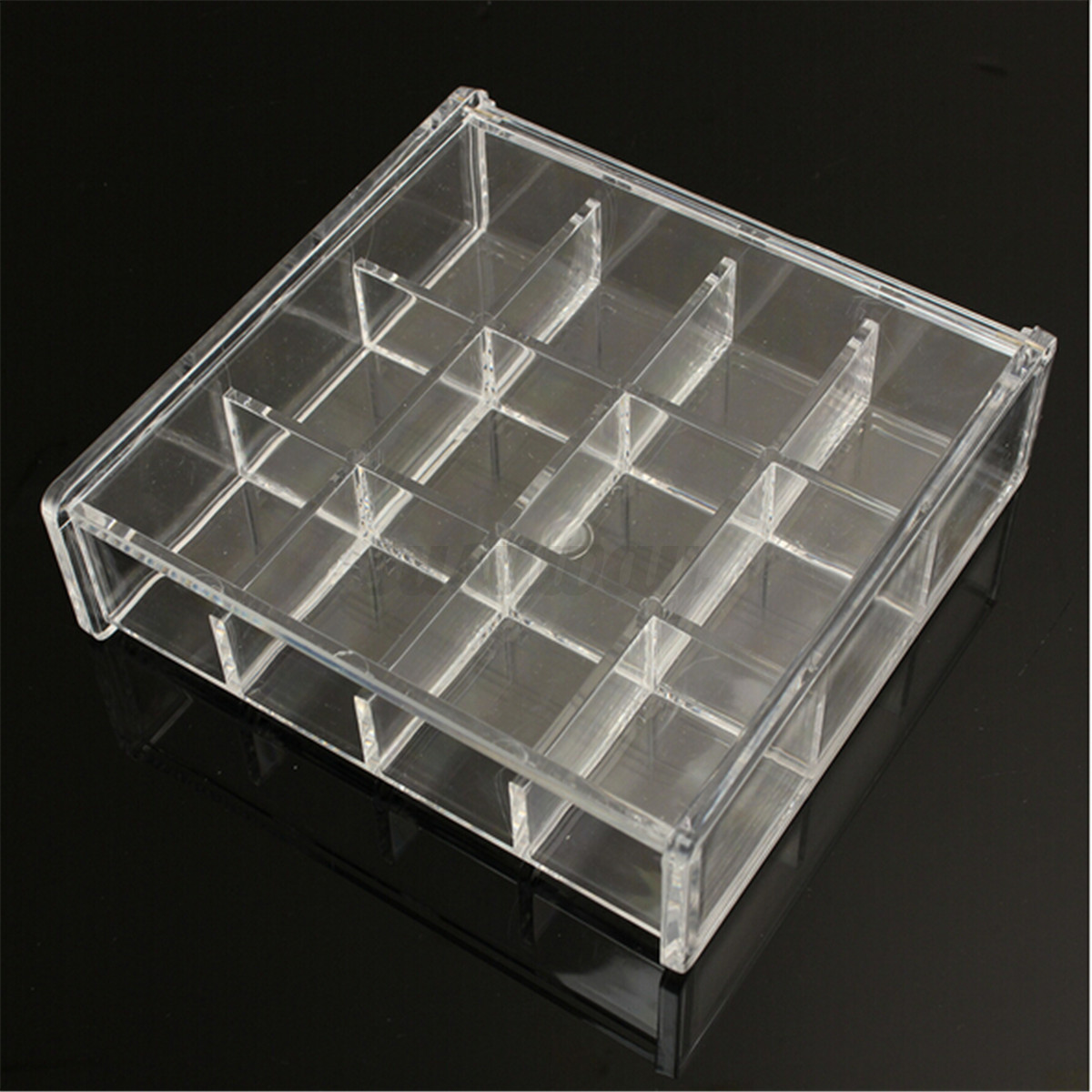 acrylic clear cosmetic organizer drawer makeup holder case. Black Bedroom Furniture Sets. Home Design Ideas
