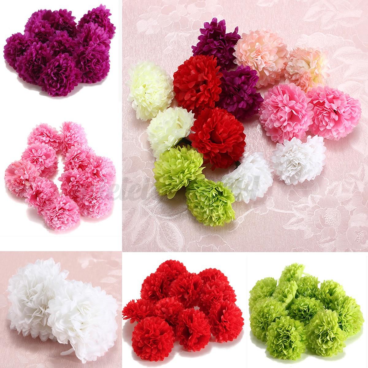 103050pcs Silk Fake Artificial Gerbera Daisy Flowers Heads Wedding