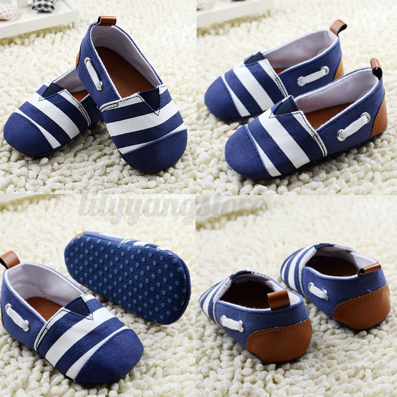 Baby Infant Toddler Boys Girls Canvas Shoes Soft Sole