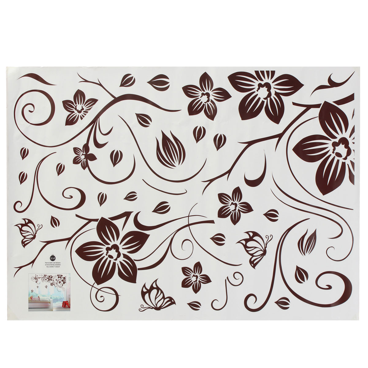 Details about Vine Fiore Farfalla Parete Adesivi Murali Wall Sticker ...