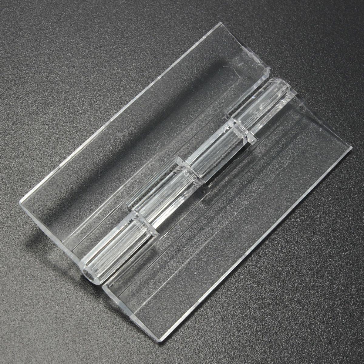 10pcs Door Window Durable Clear Acrylic Plastic Folding