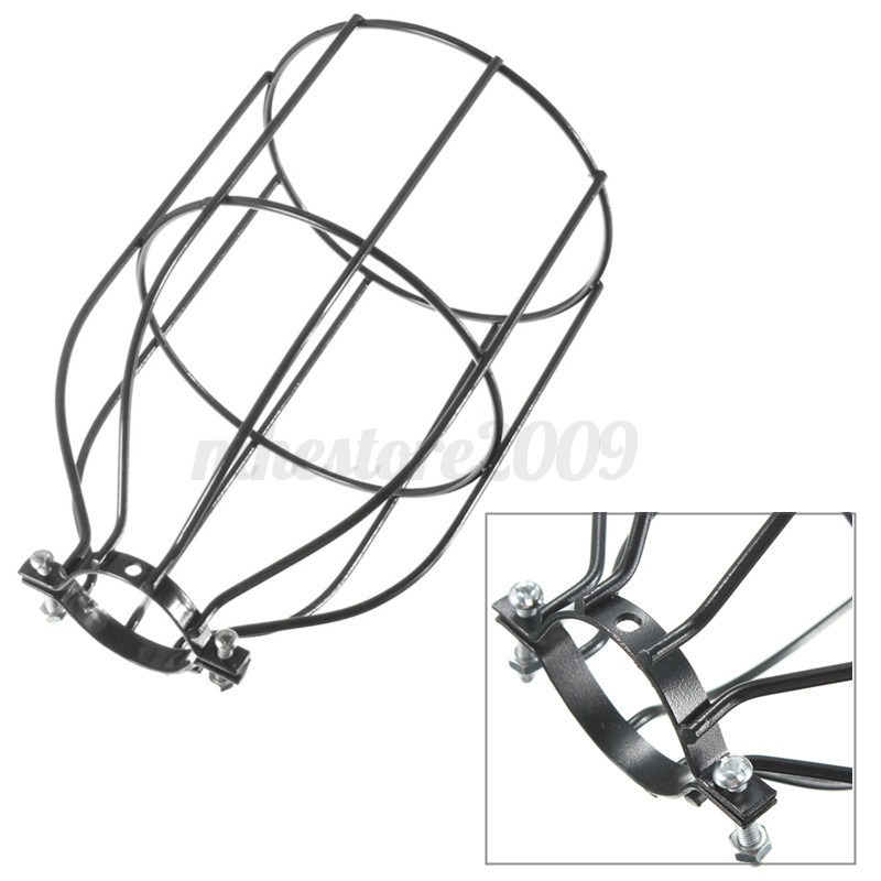 E27-Vintage-Industriel-Retro-Metal-Cage-Plafond-abat-jour-Ampoule-Edison-Lampe