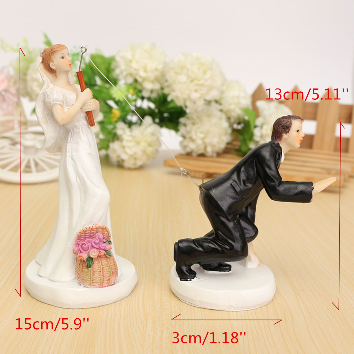 Bride Groom Resin Wedding Cake Topper Couple Figurine Romantic ...
