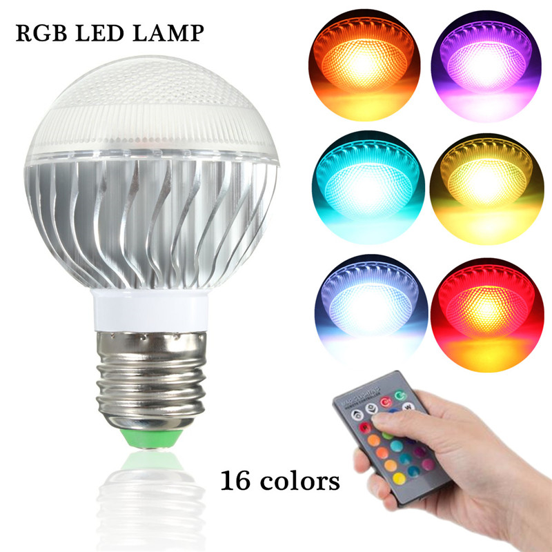 e27 e14 b22 led rgb spot ampoule 16 couleurs no l disco globe lampe ir remote ebay. Black Bedroom Furniture Sets. Home Design Ideas