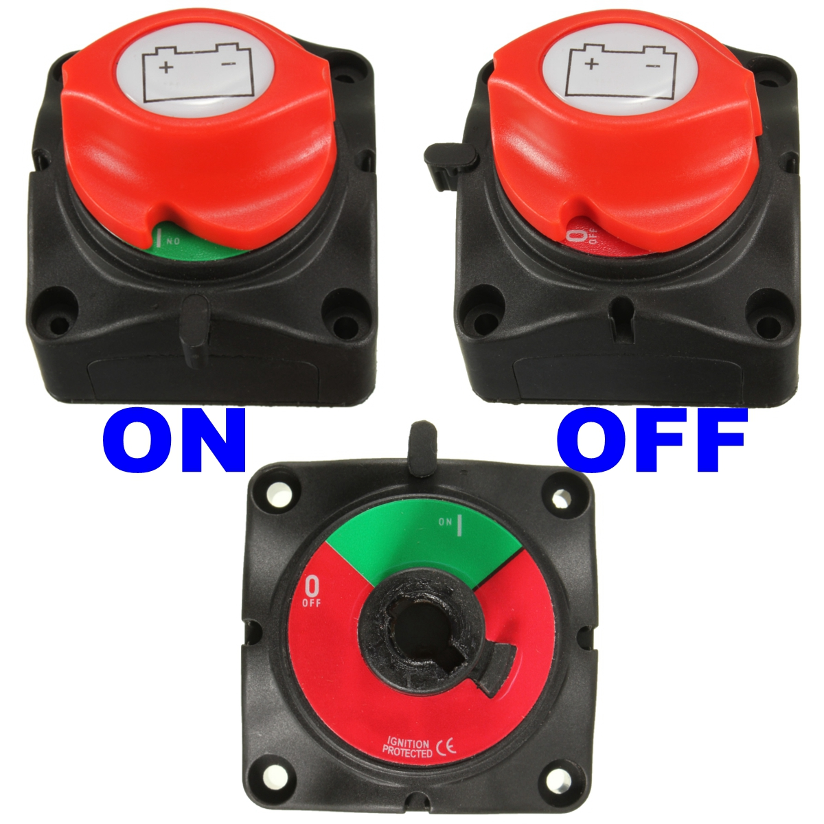 Sure Power Battery Isolator Wiring: 1X Marine Knob Battery Master Isolator Cut Off Power Kill