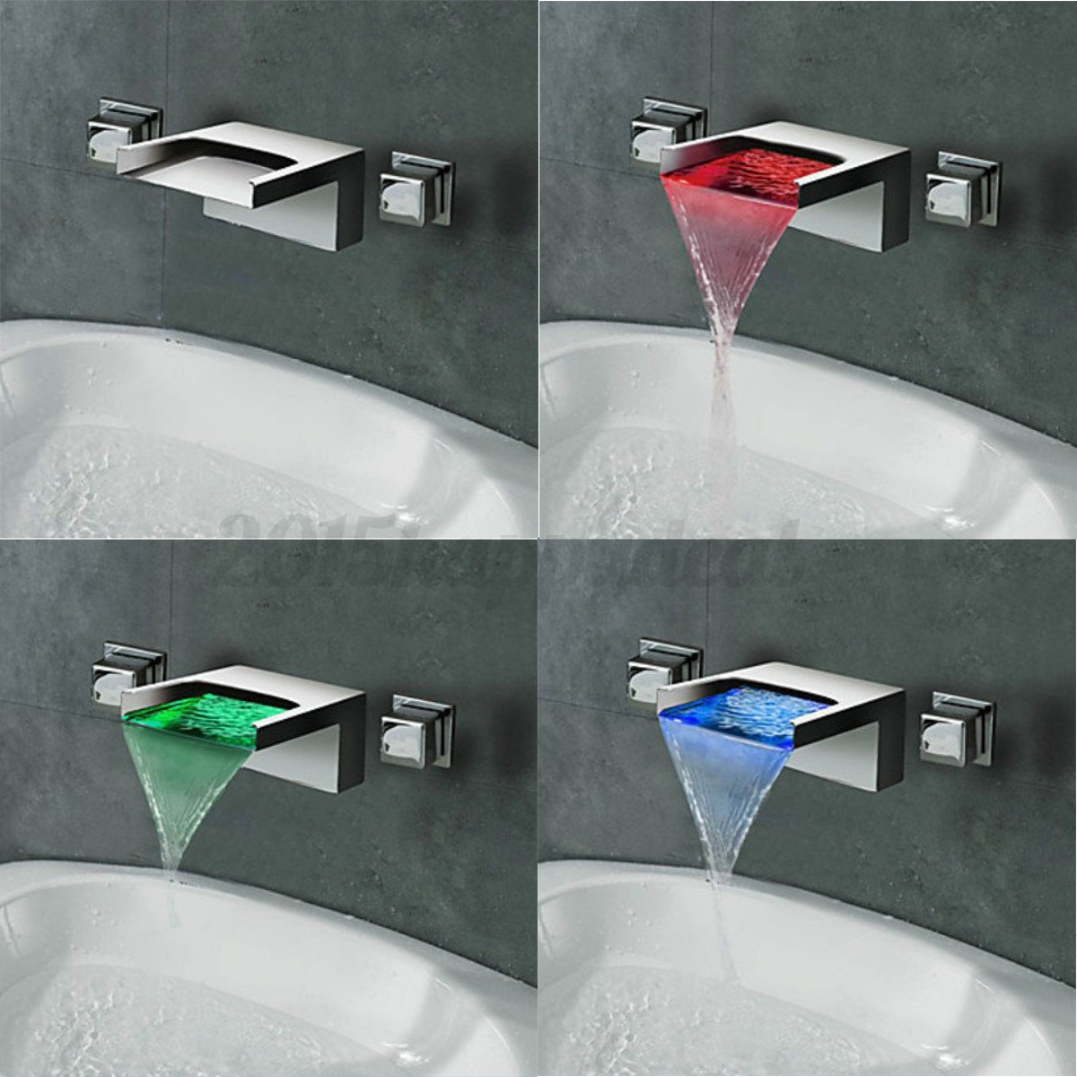 Wall Mounted Modern Bathroom Taps with Hand Held Shower   eBay