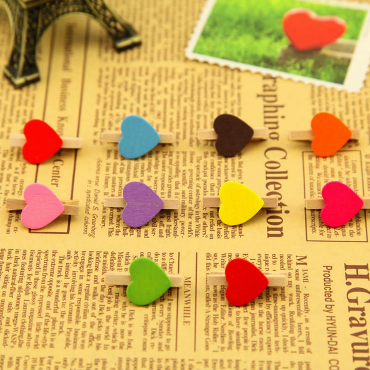 50 Pcs Cute Painted Wooden Mini Craft Pegs Cloth Photo Picture Source · Detail Image