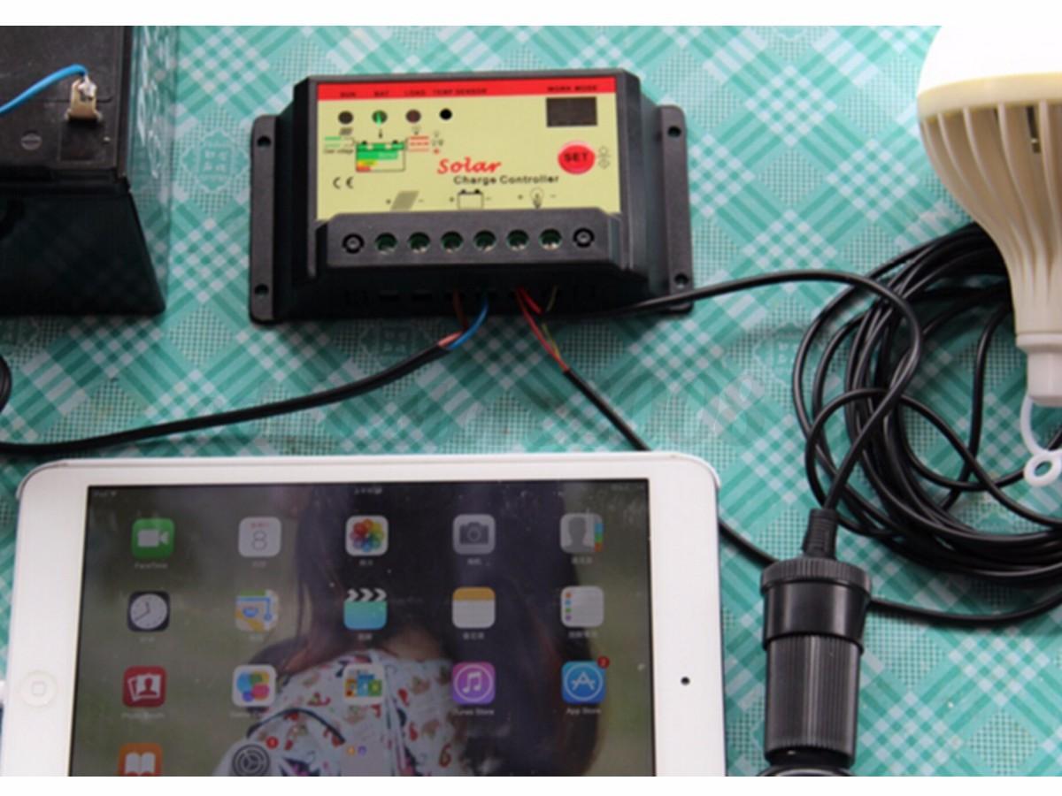Solar Panel 12v Extension Cord : V w watt solar panel panneau solaire kit controller