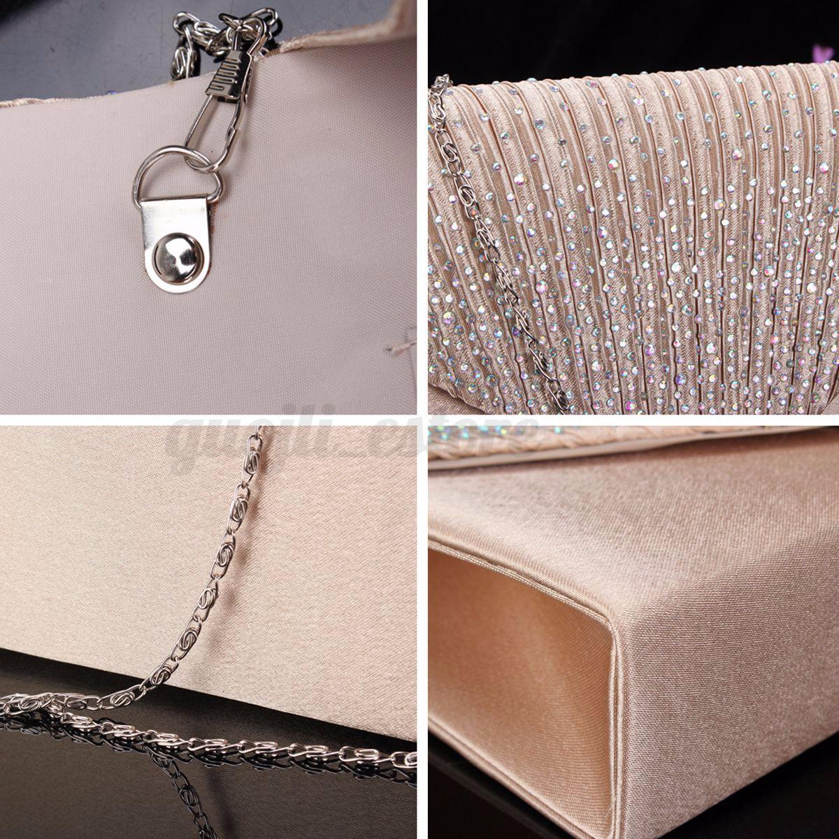 US-Women-Evening-Bag-Satin-Bridal-Clutch-Party-Envelope-Bag-Handbag-Small-Purse thumbnail 10