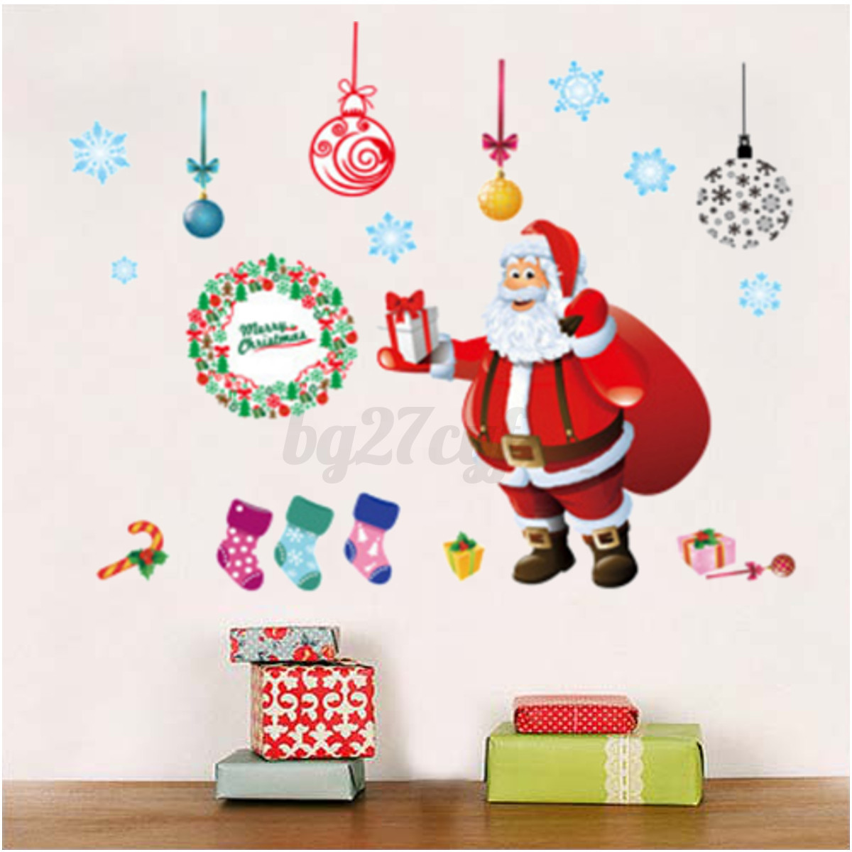Large christmas tree wall stickers window decal mural - Adesivo murale finestra ...