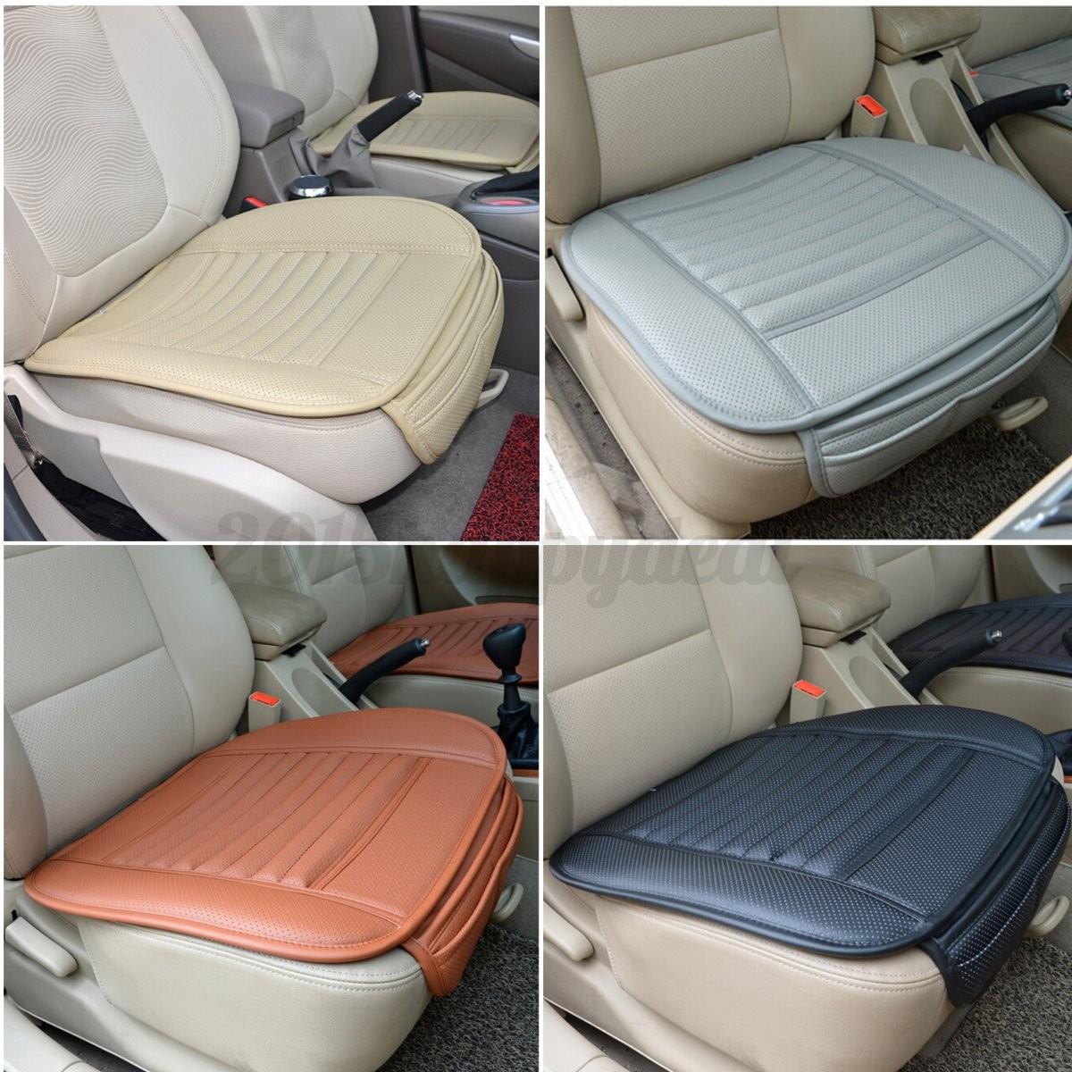 Carb n de bamb pu cuero fundas asiento auto coche oficina for Asientos de oficina