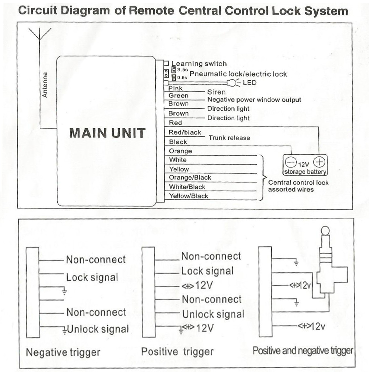 Central Locking Remote Control Wiring Diagram Switch Car Lock Keyless Entry System Security Ck009 043 On Vw Polo