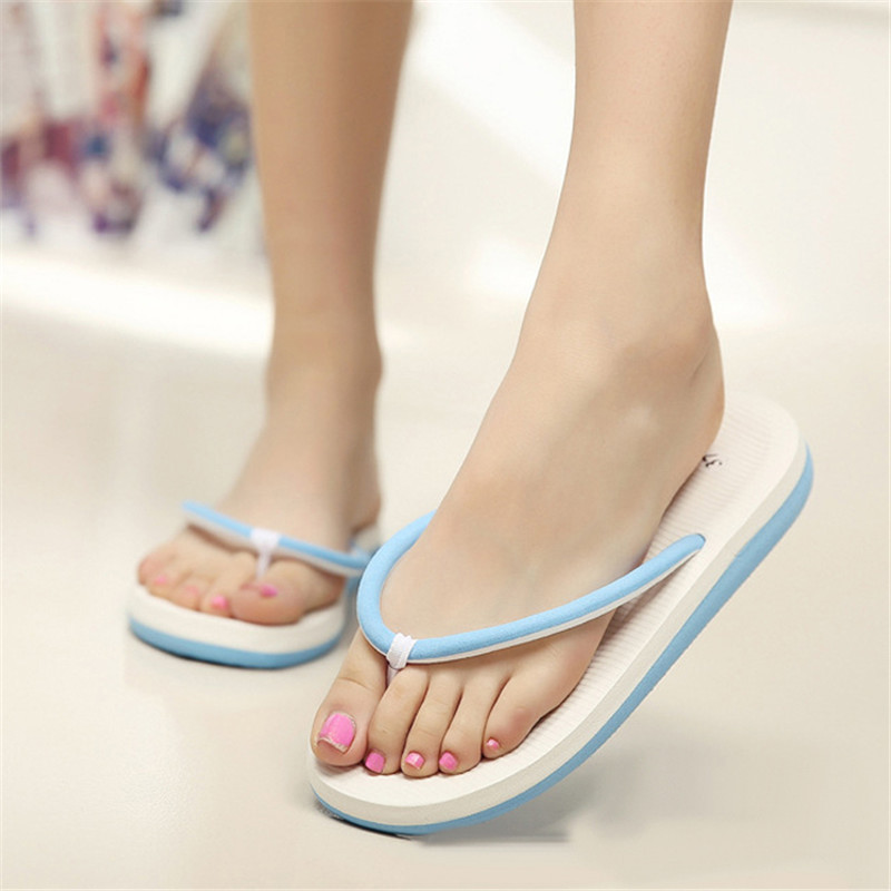 Women Flat Sandals - Fashion Ladies Summer Sandals Bath Slippers Casual Beach Wedge Shoes