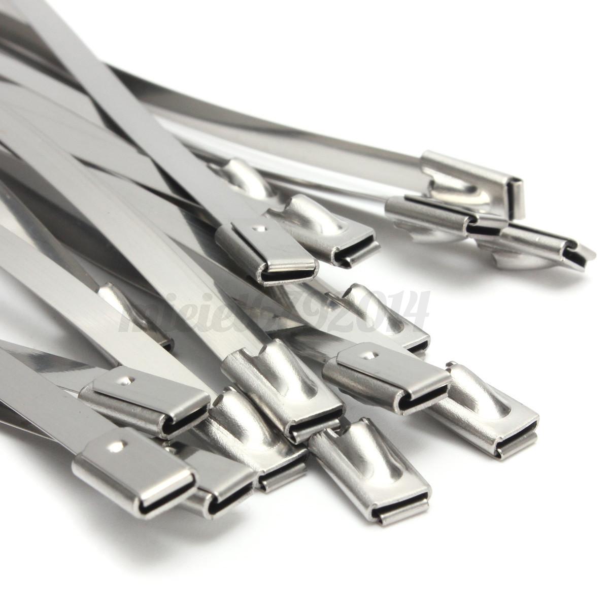 10 100pcs Strong Stainless Steel Grade Metal Self Locking