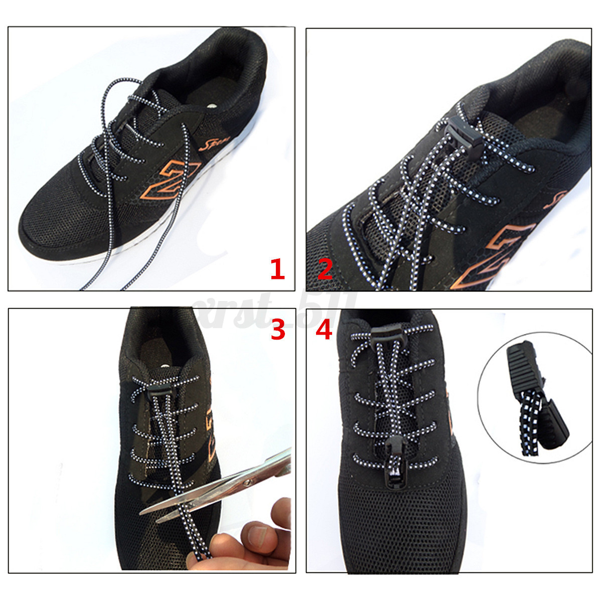 Lock Laces Elastic No Tie Shoelaces Strings Running