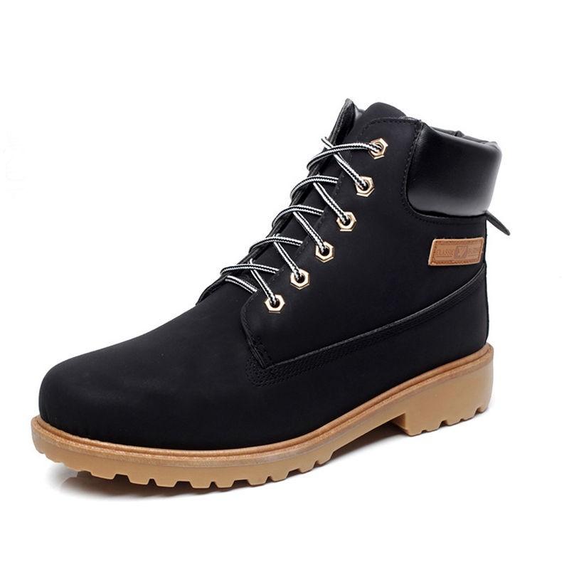 Black Winter Shoes Men Fur At The Back