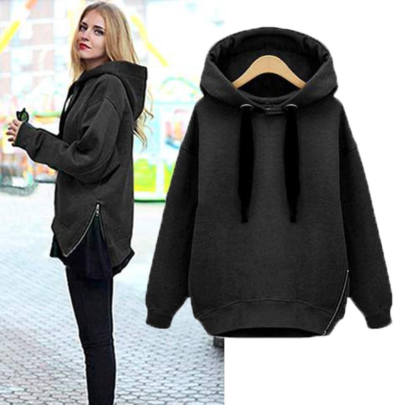 a926ca752b1 Details about ZANZEA 8-24 Women Casual Hooded Top Sweatshirt Sweats Pullover  Plus Size Hoodie