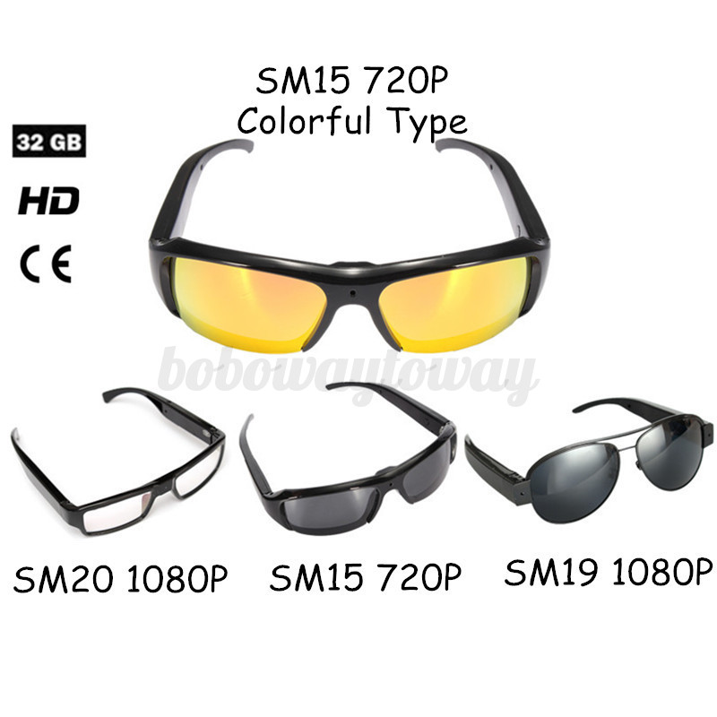 1080P/720P HD Glasses Hidden Camera Security Eyewear Cam ...