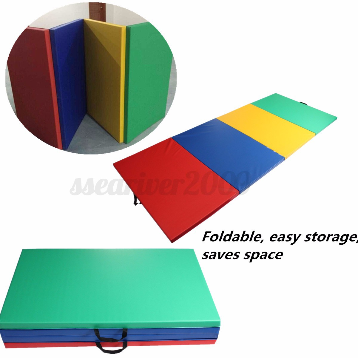 6ft 10ft Folding Gymnastics Tumble Floor Mat Yoga