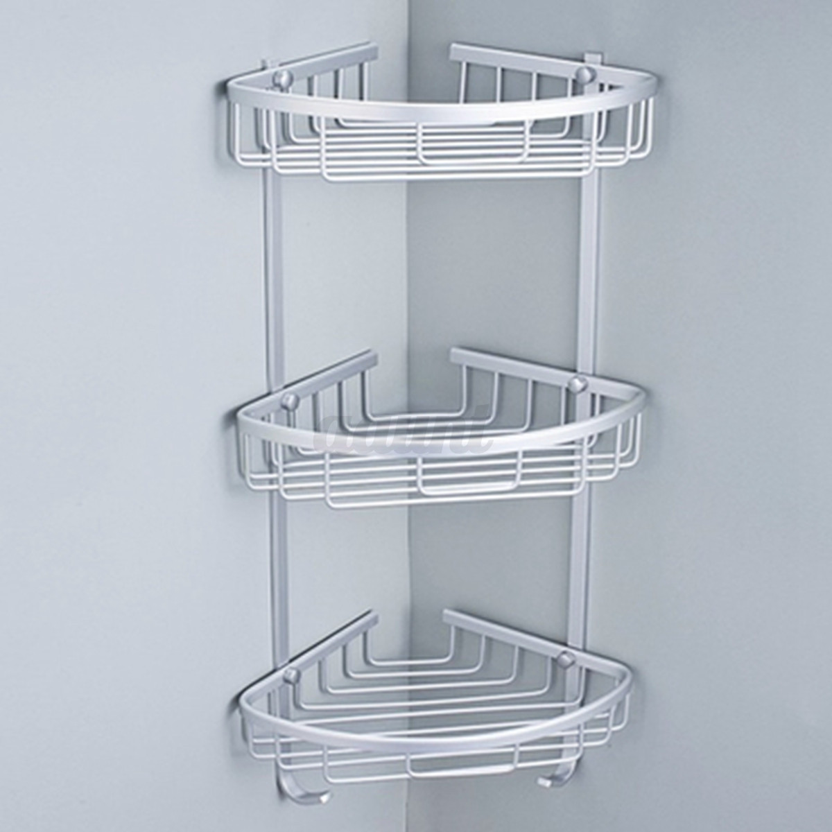 3 layers triangular shower shelf bathroom corner rack - Bathroom storage baskets shelves ...