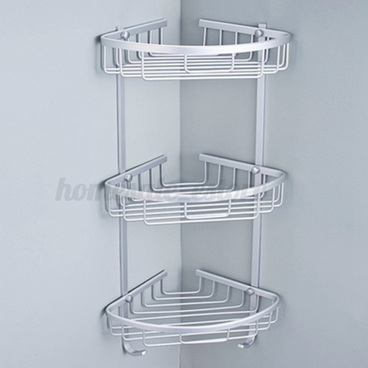 3 Layers Triangular Shower Shelf Bathroom Corner Rack Storage Basket ...