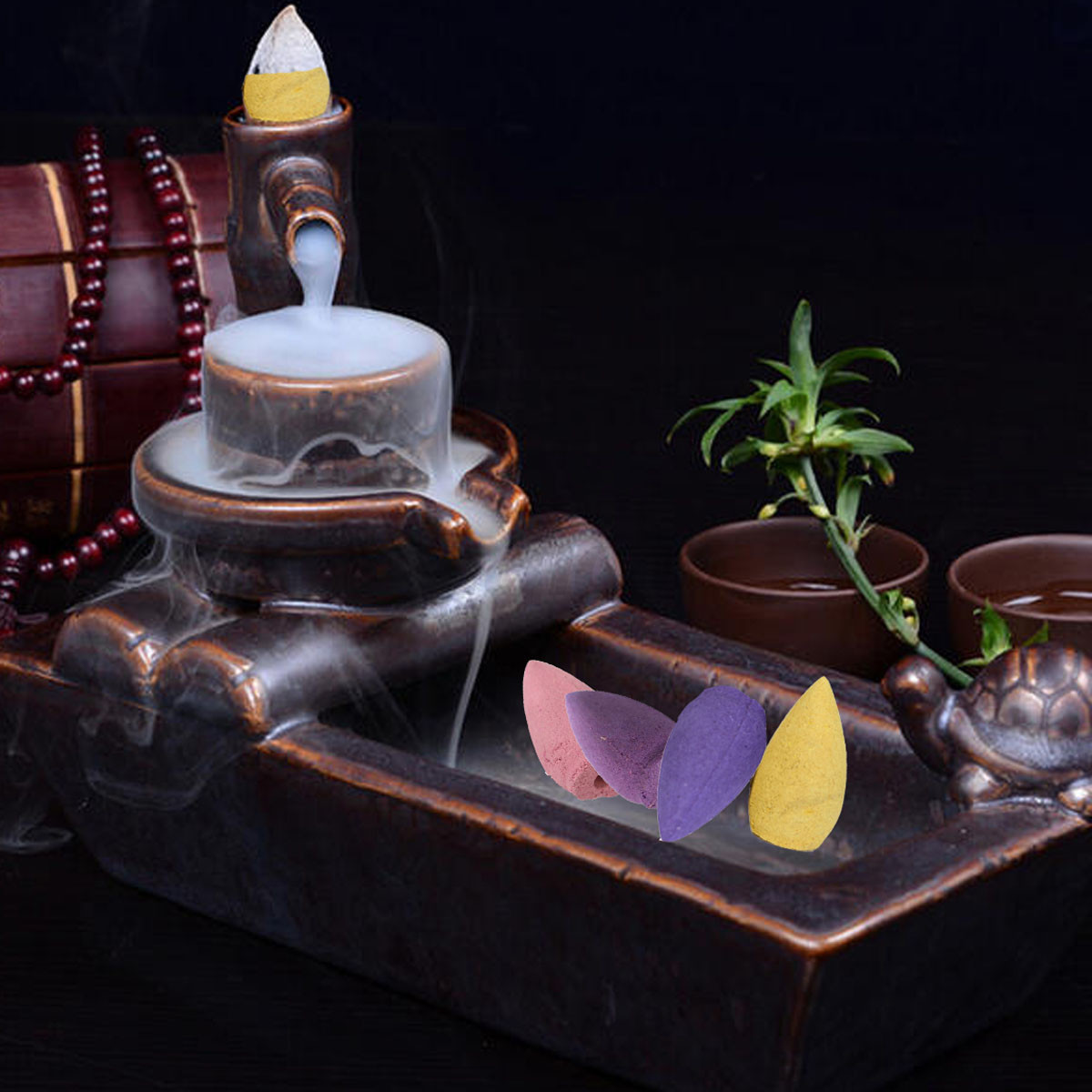 how to stop cone incense from burning