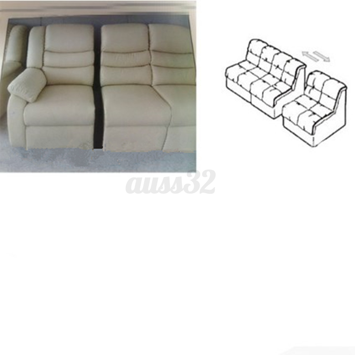 U-Type Iron Sheets Plastic Buckle Sofa Connector Couch