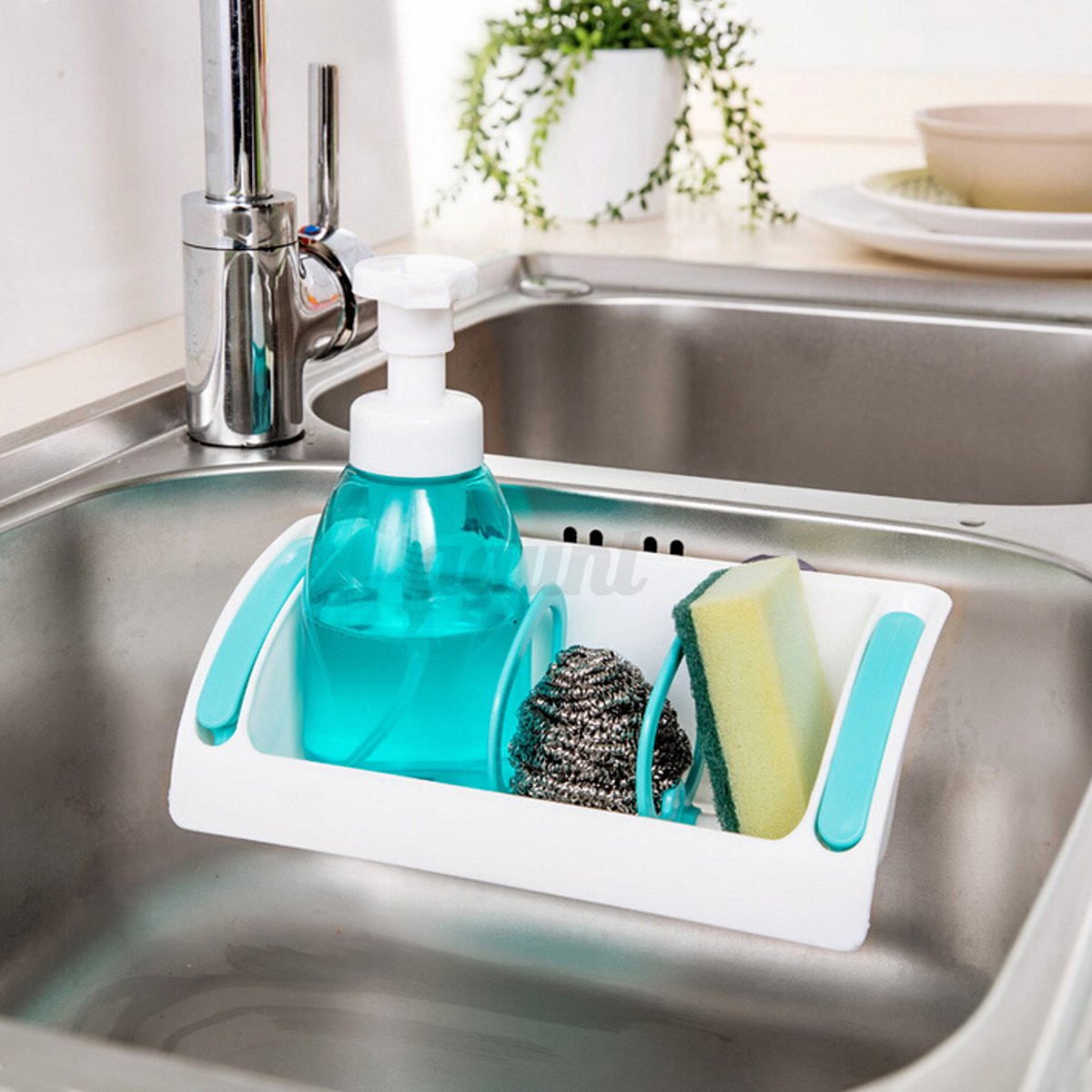 Kitchen Sink Rack Holder Drainer Suction Bathroom Shelf