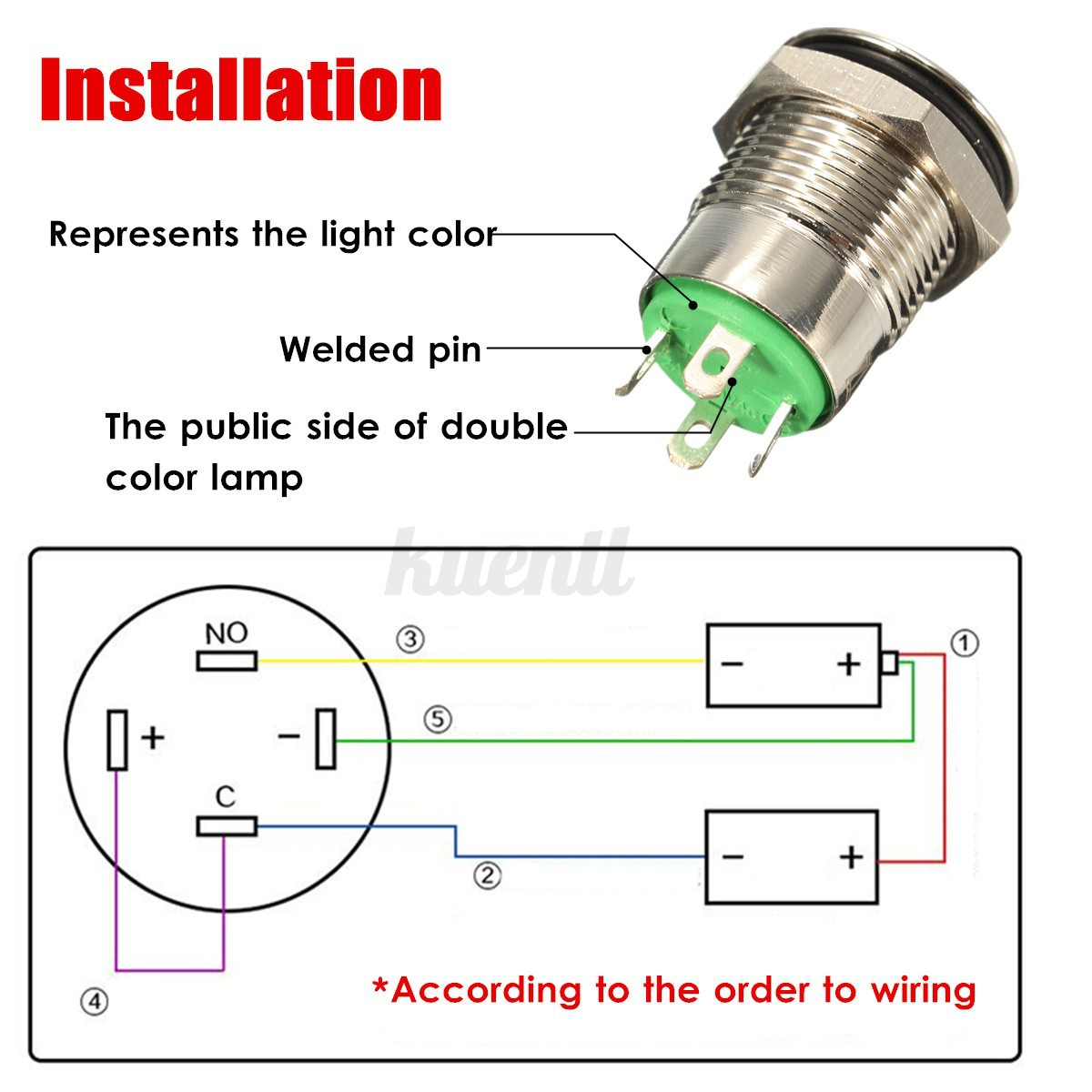 12v led power momentary push button switch for car. Black Bedroom Furniture Sets. Home Design Ideas