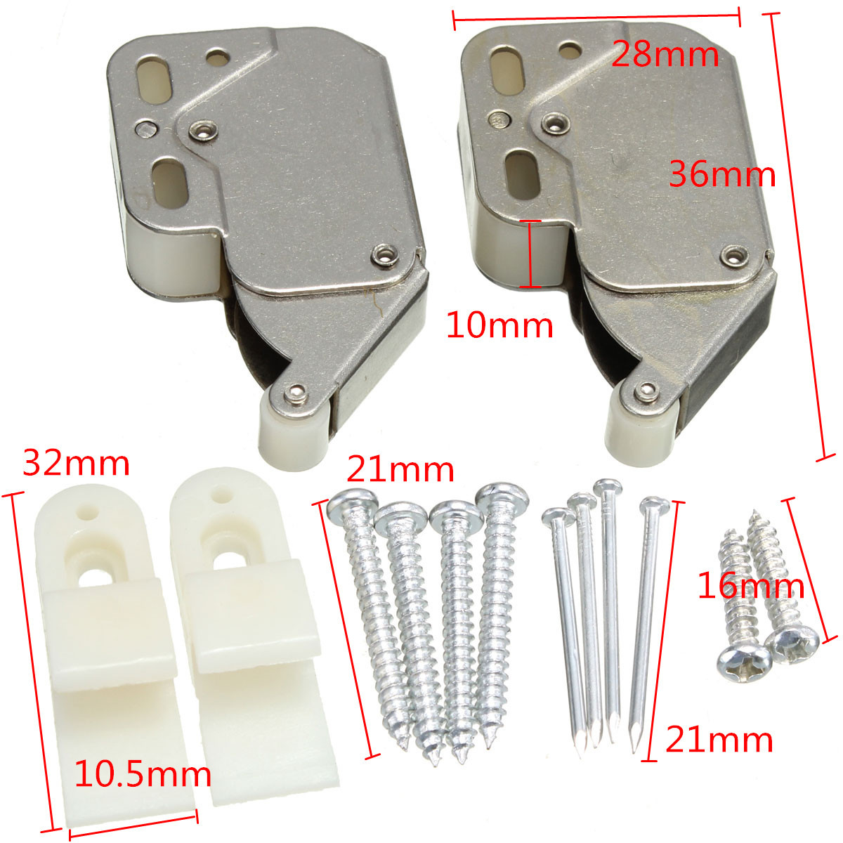 Push Latch Spring Loaded Push Touch Release Latch Drawer Cabinet Catch Latch 10 Pieces