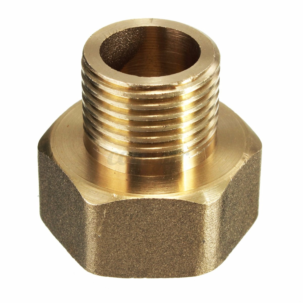Brass water pipe hex bushing reducer adapter pt male to
