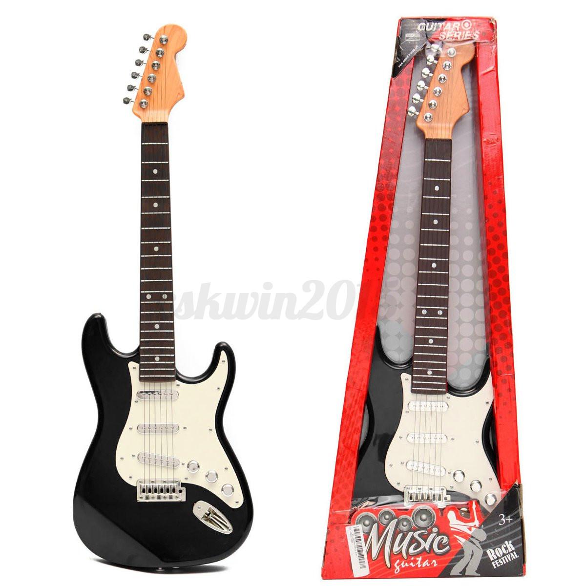 electric 6 string guitar musical instrument gift toys for kid children black red ebay. Black Bedroom Furniture Sets. Home Design Ideas