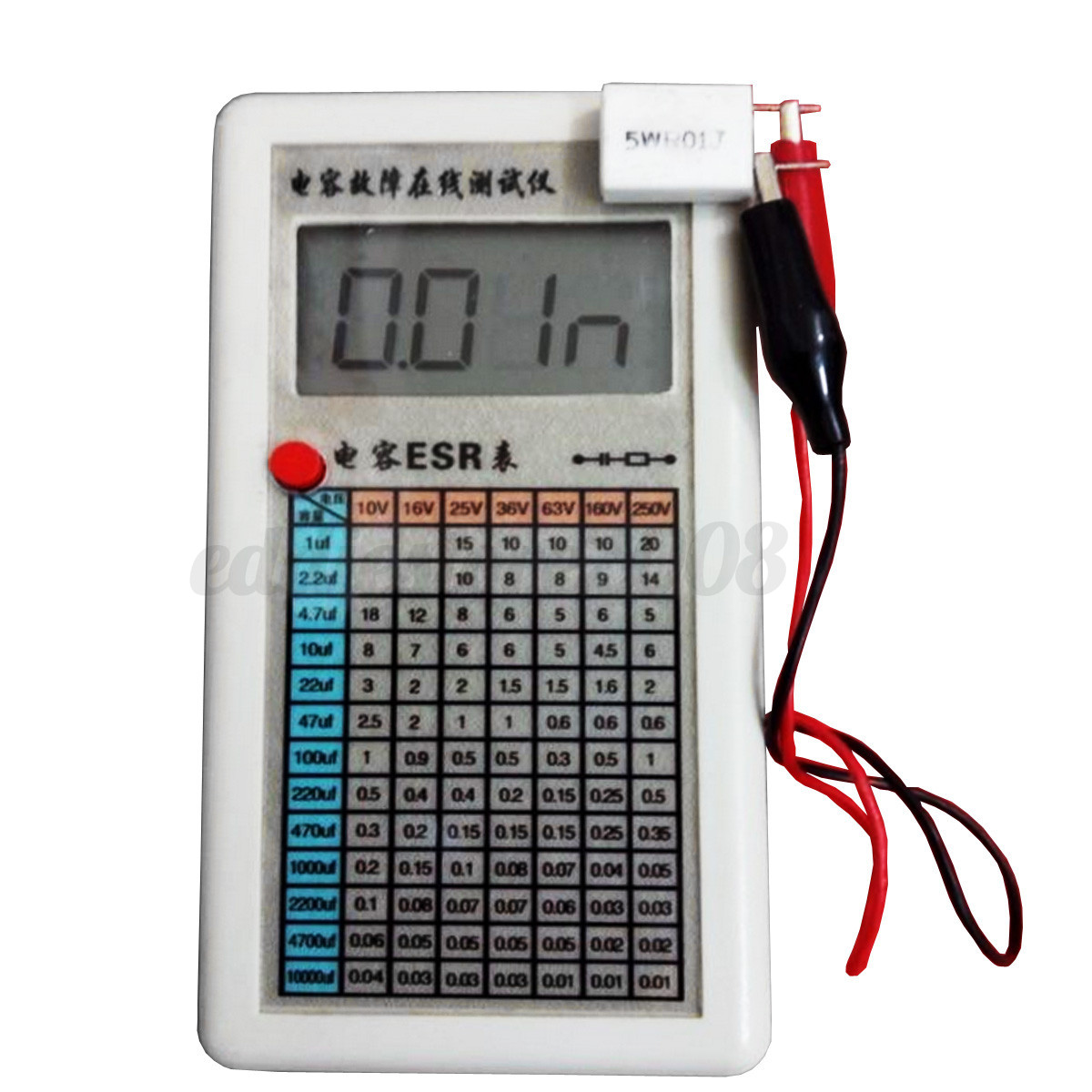 Esr Meter For Batteries : Digital esr capacitor tester internal resistance meter