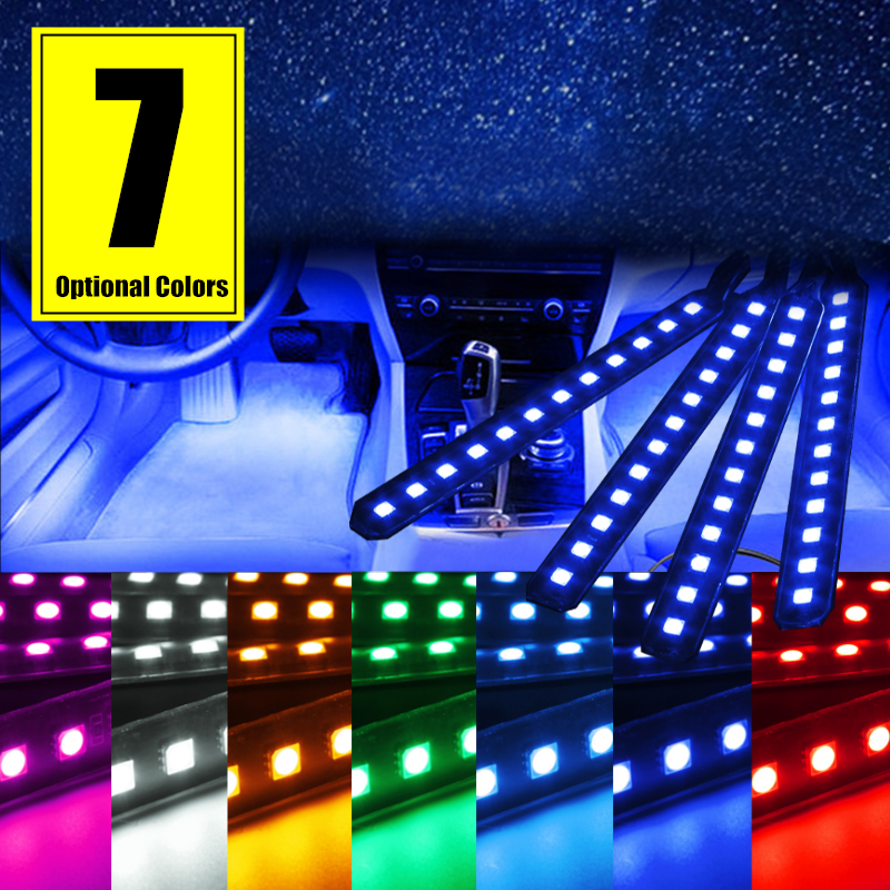 4x 12 LED 5050SMD Unterboden Beleuchtung Auto Strip ...