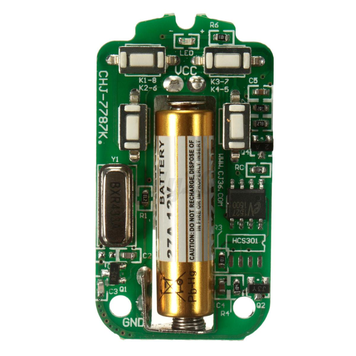 Universal 433mhz Wireless Gate Garage Door Opener Remote
